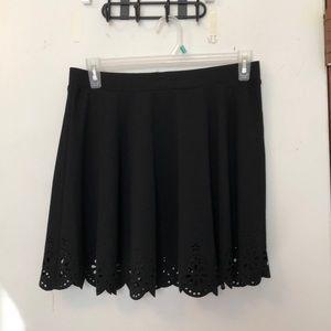 Dresses & Skirts - Black mini skirt with eyelet designs on bottomXXL